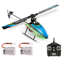 WLtoys V911S 4CH 6G Non Aileron RC Helicopter For Kids Toys W 2 Batteries Y9X6 $54.24