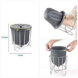 Polder Kitchen Composter Flexible silicone bucket inverts for emptying and clean $40.21