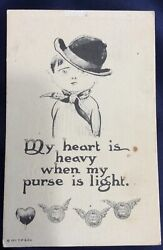 """Antique """"For Hand Coloring"""" Postcard Ser 831 1911 T P amp; Co NY Humorous Cartoon $4.95"""