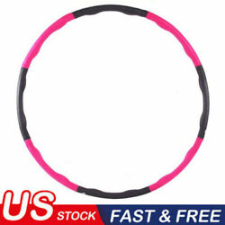 Fitness Hula Hoop Detachable Home Exercise Lose Weight Workout Adult Hoola BO US