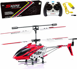 Metal Helicopter Toy Remote Control RC Aircraft Fly Off Landing Gift for Kids $48.83