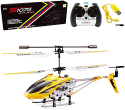 Metal Helicopter Toy Remote Control RC Aircraft Fly Off Landing Gift for Kids $40.11