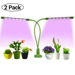 Dual Head Plant Grow Light Adjustable Lamp 40 LED for Indoor Plants 30W $14.99