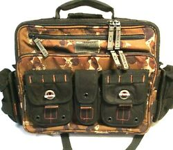 RARE OAKLEY TACTICAL FIELD GEAR MESSENGER BAG Brown Camo Pack w Backpack Straps $339.98