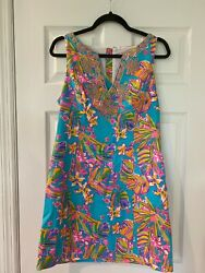 LILLY PULIZTER MULTI COLOR STYLE DRESSY SPRING SUMMER SIZE 10 $99.00
