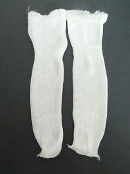 Vintage Off White Rayon Socks 8.5quot; High for Large Size Doll $12.99