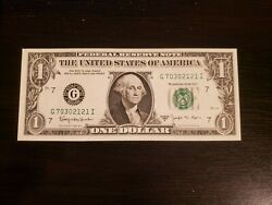 Series 1963 B $1 Federal Reserve Note J Fancy Barr Note $15.00