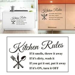 Vinyl Kitchen Rules Room Decor Art Quote Wall Decal Stickers Removable Mural US $7.25