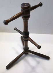 4 Cup Vintage Wooden Kitchen Coffee Mug Tree Stand Country Farmhouse $12.99
