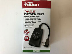 Hyper Tough 1 OUTLET PHOTOCELL TIMER Brand New OUTDOOR or Indoor