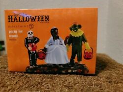 dept 56 snow village Halloween figurine Party For Treats $175.00