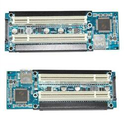 PCI E Express X1 to Dual PCI Riser Card Slot Expansion Adapters USB 3.0 Cables $20.01