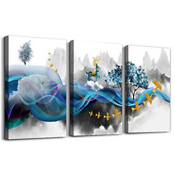 Modern room decor Guest Living Room accessories Canvas Wall Art Abstract Prints $38.06