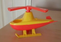 Vintage Fisher Price little people yellow red Helicopter for Airport $15.00