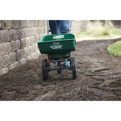 Mini Tow Fertilizer Spreader Pull Behind Seeder Lawn Grass Seed Garden Yard NEW $61.25