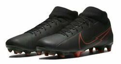 Nike Mercurial Superfly 7 Academy MG Black Red Soccer Cleats 8.5 Mens AT7946 $49.99