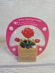 New Happy Valentine#x27;s Day Solar Dancing Flower Heart Table Decor Novelty Rose $2.99