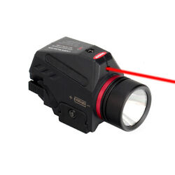 Tactical Combo Red Laser Sight LED Flashlight Fit 20mm Rail Pistol Rifle Mount $21.99