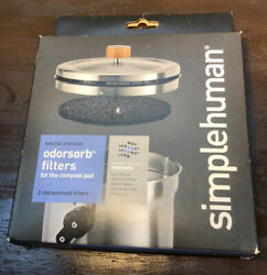 Simple Human Odorsorb Filters for the compost pail KT1135 2 Pack $13.99