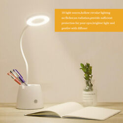 White LED Bedside Lamp Reading Desk Light Dimmable Touch Control USB Office $5.39