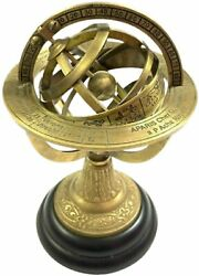 10quot; Engraved Brass Tabletop Armillary Sphere Nautical Globe Antique Astrolabe $86.90