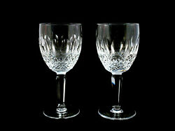 2 Waterford Crystal Tall Colleen Water Goblets Glasses Qty Avail $97.97