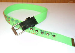 Diesel Mens For Successful Living Green canvass spell out belt 32 inches small $31.99