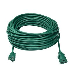 Clear Power 80ft Lawn amp; Garden Outdoor Extension Cord 3 Prong Grounded CP10202 $42.99