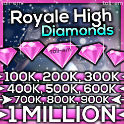 ROYALE HIGH DIAMONDS 100K 1M 💎 ROBLOX RH HALO CHEAPEST Read Description $24.95
