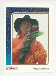 1992 STERLING CMA COUNTRY GOLD MUSIC ROOKIE CARD TRACY LAWRENCE FOIL PARALLEL