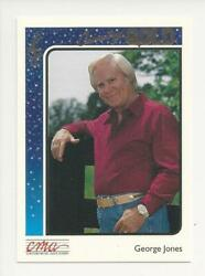 1992 STERLING CMA COUNTRY GOLD MUSIC ROOKIE CARD GEORGE JONES # 29 FOIL PARALLEL