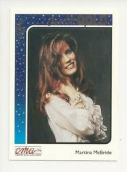 1992 STERLING CMA COUNTRY GOLD MUSIC ROOKIE CARD MARTINA MCBRIDE FOIL PARALLEL