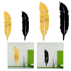 Removable Home Mirror Wall Stickers Decal Art Vinyl Room Decors DIY Feather $20.79