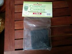 3 Pack Charcoal Filters for Kitchen Compost Carrier Replacement Filters 3.5quot; $9.00