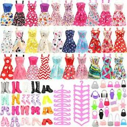 105 Pcs Doll Clothes amp; Accessories Including 20 Colorful Dresses 50 Variety $20.35
