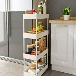 Multi Layer Cart Shelf Storage Rack Vegetable Kitchen Removable Floor Bathroom $24.20