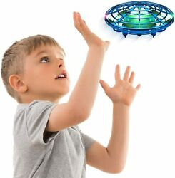 Hand Operated Drone Kids Motion Sensor Hands Free Flying Toy Boys Girls Blue UFO $35.99