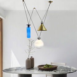 Nordic simple Living Diningroom bedroom 3 head pulley small hanging lamps $199.03
