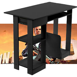 Home Desktop Computer Desk With Shelves Small Desk Dormitory Study Gaming Table $57.44