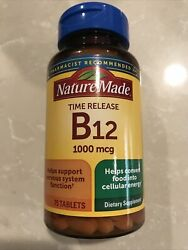 Nature Made Vitamin B12 1000mcg 75 Tablets Time Release $10.00