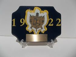 SIGMA GAMMA RHO SOLID DESK TROPHY FREE ENGRAING WITH STAND $27.99