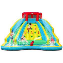 Inflatable Mighty Water Slide Park Bouncy Splash Pool Climbing Wall Kids Gift $379.79