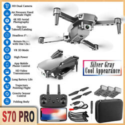 S70PRO Drone WIFI 4K HD Dual Camera Height Keep Foldable FPV RC Quadcopter 2021 $40.15