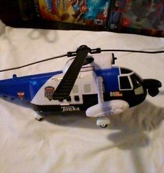 TONKA HELICOPTER Rescue Force AMPHIBIOUS Chopper And Folding Blades WITH SOUND $10.00