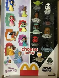 2021 McDONALD#x27;S Disney#x27;s Princess or Star Wars HAPPY MEAL TOYS Or Set $39.99