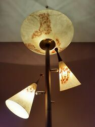 Antique Vtg 1950s 60s MCM Retro Tension Pole Ceiling Floor Light Lamp Fixture $475.00