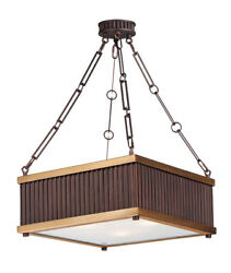 Maxim Lighting 26013OIBUB Ruffle Pendant Oil Rubbed Bronze and Burnished Brass $93.17