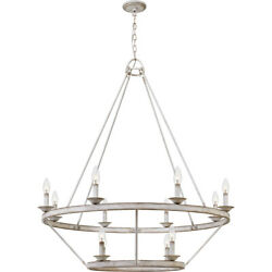 Quoizel CRL5012AWH Corral Chandelier Antique White $374.40