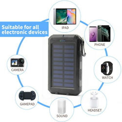 2000000mAh LED Dual USB Portable Charger Solar Power Bank For Cell Phone Android $16.88