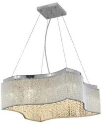 INFLUX PENDANT CONTEMPORARY ADJUSTABLE HANGING HEIGHT 24 LIGHT CHROME IRON $1069.00